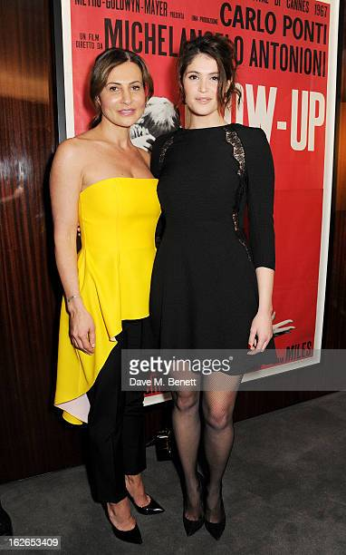 Ella Krasner and Gemma Arterton attend a VIP screening of 'Byzantium' hosted by the BFI with Gemma Arterton at the Bulgari Hotel on February 25 2013...