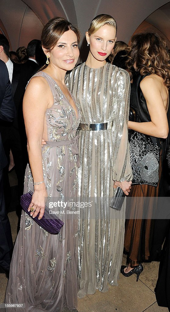 Ella Krasner (L) and Karolina Kurkova attend the Place For Peace dinner co-hosted by Ella Krasner and Forest Whitaker to support the Peace Earth Foundation in association with Star Diamond at Banqueting House on November 10, 2012 in London, England.
