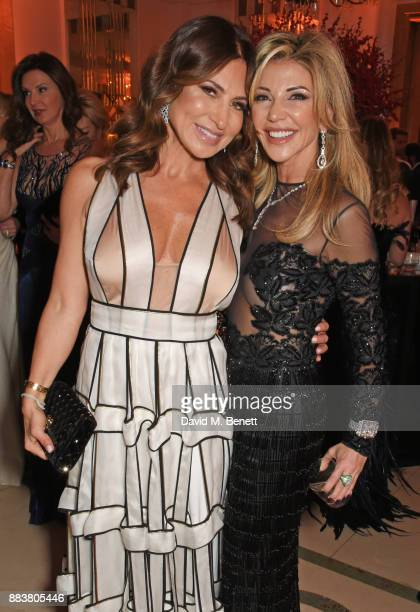 Ella Krasner and Lisa Tchenguiz attend the BOVET 1822 Brilliant is Beautiful Gala benefitting Artists for Peace and Justice's Global Education Fund...