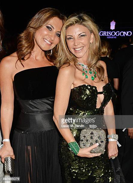 Ella Krasner and Lisa Tchenguiz attend the de Grisogono 'Fatale In Cannes' party during the 67th Cannes Film Festival at Hotel du CapEdenRoc on May...
