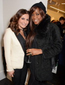 Ella Krasner and Mica Paris attend the launch of the Amanda Wakeley London flagship store on January 30 2014 in London England