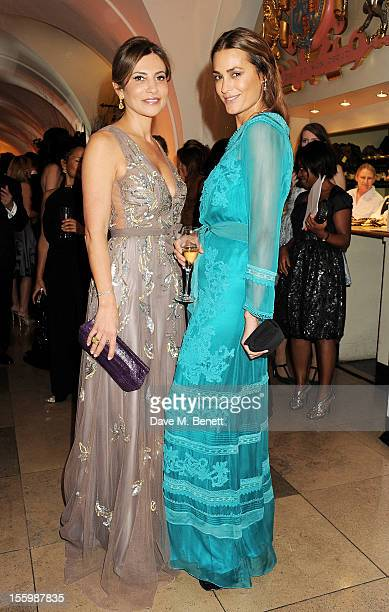 Ella Krasner and Yasmin Le Bon wearing Star Diamond attend the Place For Peace dinner cohosted by Ella Krasner and Forest Whitaker to support the...
