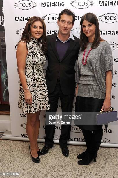 Ella Krasner Clive Owen and Katrina Pavlos attend Clive Owen's special inhouse screening of 'Sweet Smell of success' with Ella Krasner Katrina Pavlos...