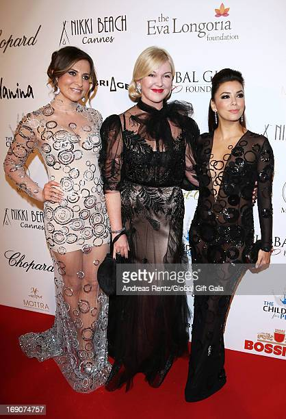 Ella Krasner designer Yulia Yanina and actress Eva Longoria attend the 'Global Gift Gala' 2013 presented by Eva Longoria at Carlton Hotel on May 19...