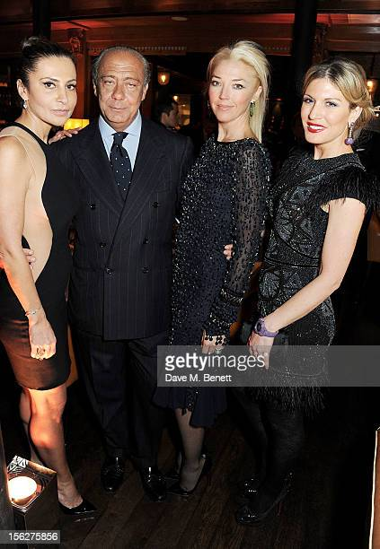 Ella Krasner Fawaz Gruosi Tamara Beckwith and Hofit Golan attend the de Grisogono private dinner at 17 Berkeley St on November 12 2012 in London...
