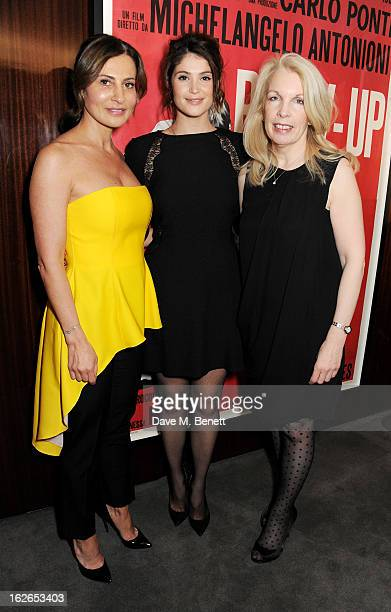 Ella Krasner Gemma Arterton and director of the BFI Amanda Nevill attend a VIP screening of 'Byzantium' hosted by the BFI with Gemma Arterton at the...