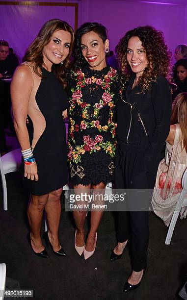 Ella Krasner Rosario Dawson and Tara Smith attend 'The Expendables 3' private dinner and party at Gotha Night Club at Palm Beach on May 18 2014 in...