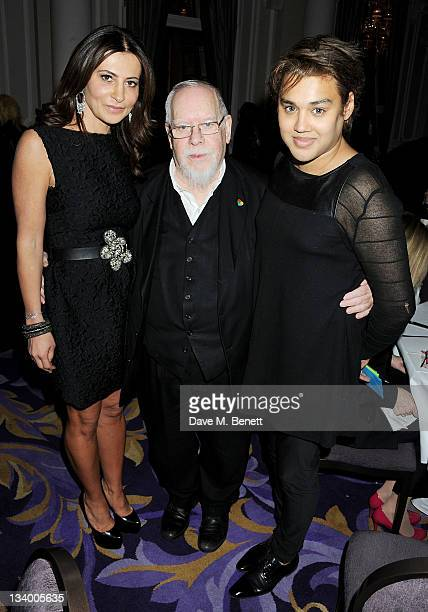 Ella Krasner Sir Peter Blake and Pablo Ganguli attend a dinner hosted by Pablo Ganguli and Ella Krasner in celebration of the Liberatum 10th...
