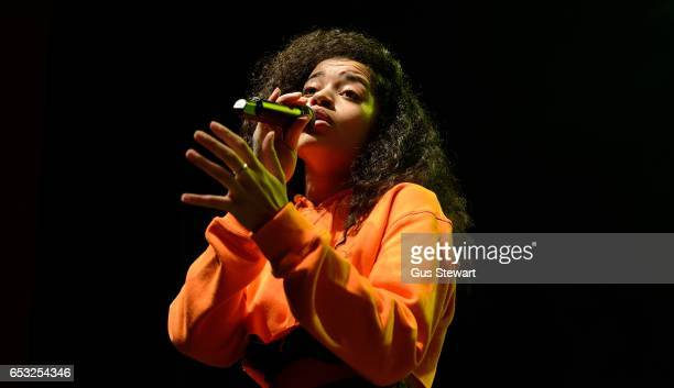 Ella Mai performs on stage at the O2 Shepherd's Bush Empire on March 8 2017 in London England
