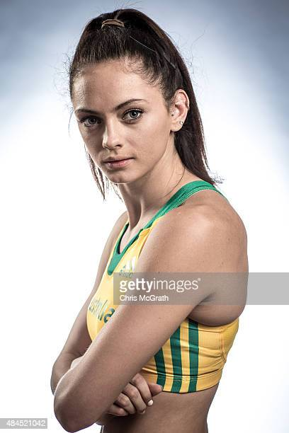 Ella Nelson of Australia poses for a portrait during a photo session at the Athletics Australia training camp on August 17 2015 in Wakayama Japan
