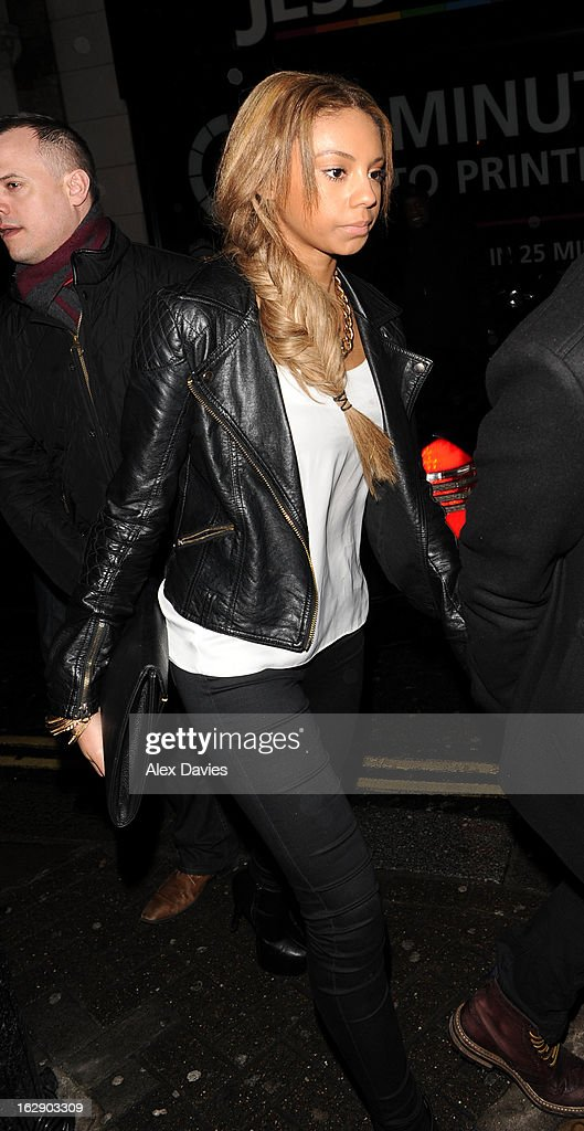 Ella Paige Roberts Celebrates Justin Bieber 's 19th birthday at BLC club sighting on February 28, 2013 in London, England.