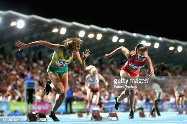 Ella Pardy of Australia competes in women 200 metre ambulatory during the 2017 Nitro Athletics Series at Lakeside Stadium on February 9 2017 in...