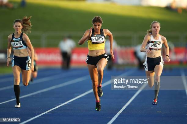 Ella Pardy of WA and Isis Holt of Victoria compete in the Women's 100 Metre Ambulant Final during day seven of the Australian Athletics Championships...