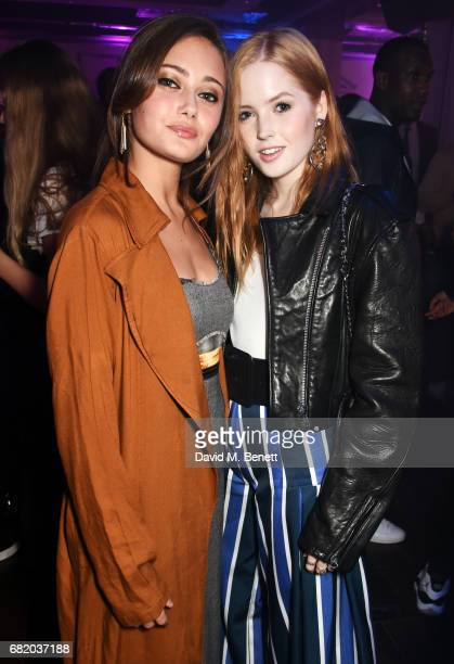 Ella Purnell and Ellie Bamber attend the launch of The Curtain in Shoreditch on May 11 2017 in London England