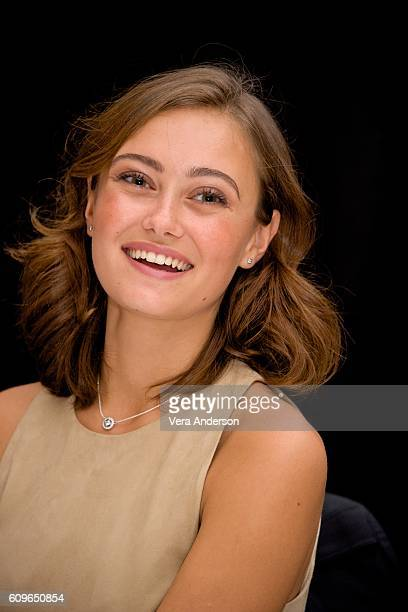 Ella Purnell at the 'Miss Peregrine's Home for Peculiar Children' Press Conference at the Claridges Hotel on September 21 2016 in London England