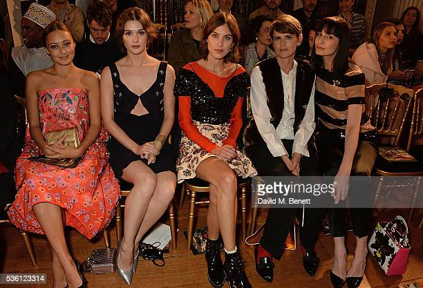 Ella Purnell Sai Bennett Alexa Chung Stella Tennant and Erin O' Connor attend as Christian Dior showcases its spring summer 2017 cruise collection at...