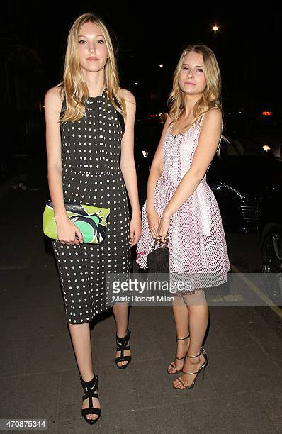 Ella Richards and Lottie Moss attending a Jo Malone party at the Jo Malone HQ on April 23 2015 in London England