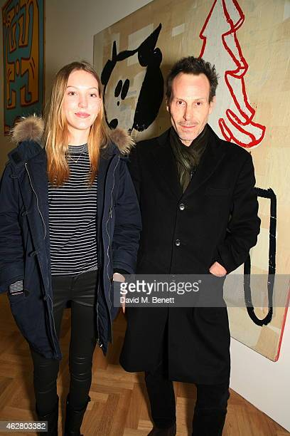 Ella Richards Marlon Richards attends a private view of 'A Strong Sweet Smell of Incense A Portrait of Robert Fraser' at the Pace Gallery on February...