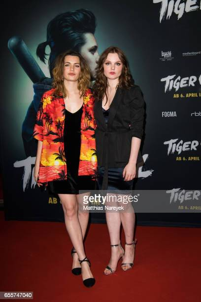 Ella Rumpf and Maria Dragus attend the premiere of the film 'Tiger Girl' at Zoo Palast on March 20 2017 in Berlin Germany