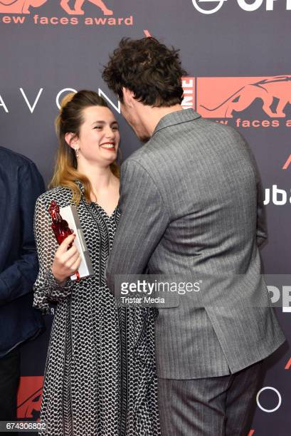 Ella Rumpf and Noah Saavedra attend the New Faces Award Film at Haus Ungarn on April 27 2017 in Berlin Germany