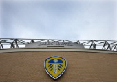 Elland Road Stadium ahead of the Sky Bet Championship match between Leeds United and Birmingham City at Elland Road Stadium on October 20 2013 in...