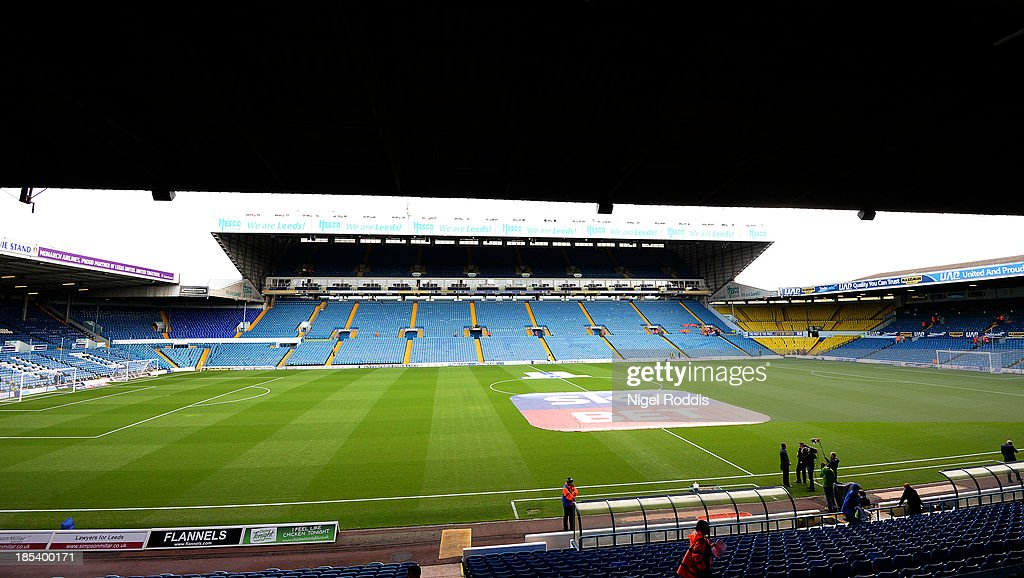 Elland Road Stadium ahead of the Sky Bet Championship match between Leeds United and Birmingham City at Elland Road Stadium on October 20 2013 in...