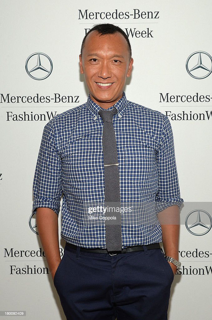 Elle Creative Director <a gi-track='captionPersonalityLinkClicked' href=/galleries/search?phrase=Joe+Zee&family=editorial&specificpeople=2257766 ng-click='$event.stopPropagation()'>Joe Zee</a> attends the Mercedes-Benz Star Lounge during Mercedes-Benz Fashion Week Spring 2014 on September 8, 2013 in New York City.