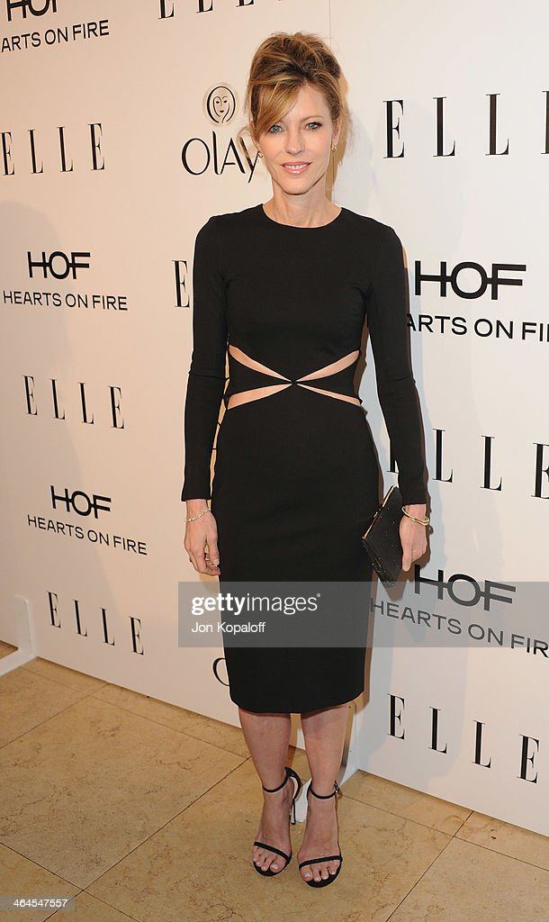 Elle Editor in Chief Robbie Myers arrives at the ELLE Women In Television Celebration at Sunset Tower on January 22, 2014 in West Hollywood, California.