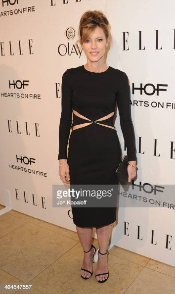 Elle Editor in Chief Robbie Myers arrives at the ELLE Women In Television Celebration at Sunset Tower on January 22 2014 in West Hollywood California