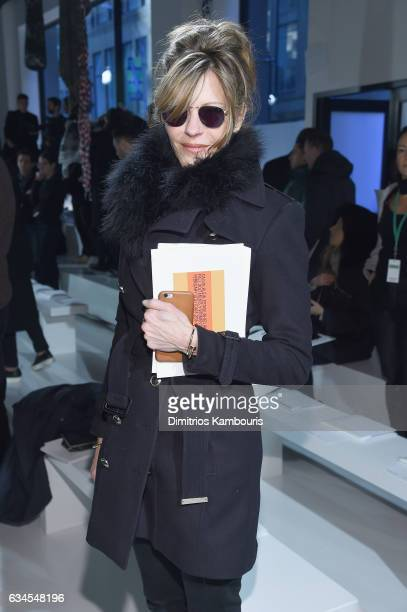 Elle Editor in chief Robbie Myers attends the Calvin Klein Collection Front Row during New York Fashion Week on February 10 2017 in New York City