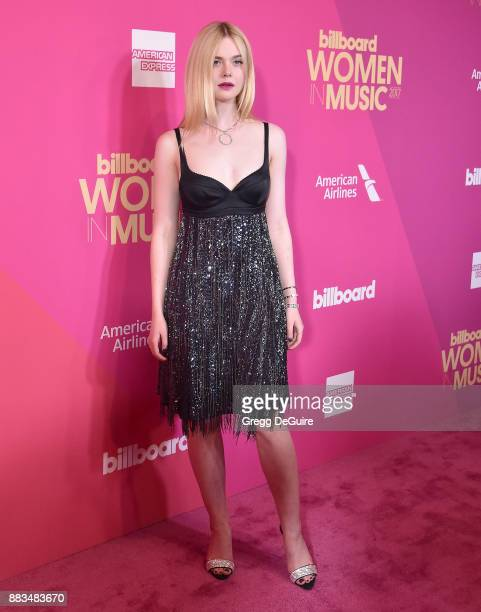 Elle Fanning arrives at the Billboard Women In Music 2017 at The Ray Dolby Ballroom at Hollywood Highland Center on November 30 2017 in Hollywood...