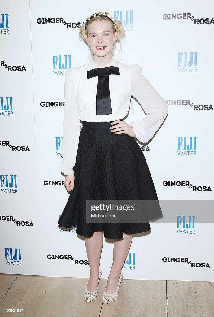 <a gi-track='captionPersonalityLinkClicked' href=/galleries/search?phrase=Elle+Fanning&family=editorial&specificpeople=2189940 ng-click='$event.stopPropagation()'>Elle Fanning</a> arrives at the Los Angeles special screening of 'Ginger & Rosa' held at The Paley Center for Media on November 8, 2012 in Beverly Hills, California.