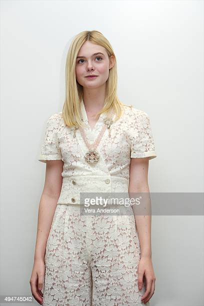 Elle Fanning at the 'Trumbo' Press Conference at the Four Seasons Hotel on October 28 2015 in Beverly Hills California