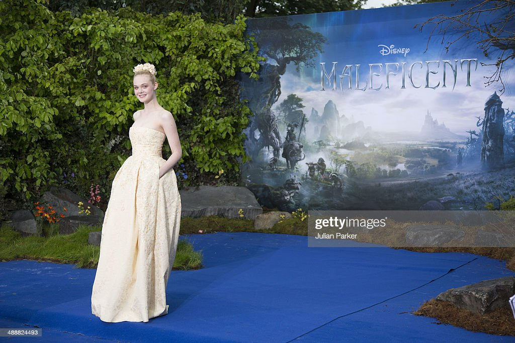 <a gi-track='captionPersonalityLinkClicked' href=/galleries/search?phrase=Elle+Fanning&family=editorial&specificpeople=2189940 ng-click='$event.stopPropagation()'>Elle Fanning</a> attends a private reception as costumes and props from Disney's 'Maleficent' are exhibited in support of Great Ormond Street Hospital at Kensington Palace on May 8, 2014 in London, England.