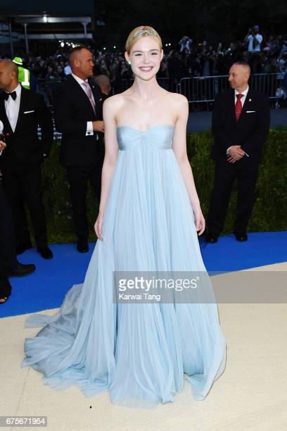 Elle Fanning attends 'Rei Kawakubo/Comme des Garcons Art Of The InBetween' Costume Institute Gala at Metropolitan Museum of Art on May 1 2017 in New...