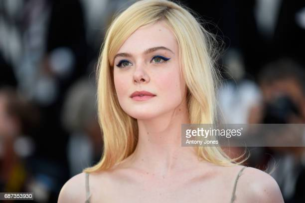 Elle Fanning attends the 70th Anniversary of the 70th annual Cannes Film Festival at Palais des Festivals on May 23 2017 in Cannes France