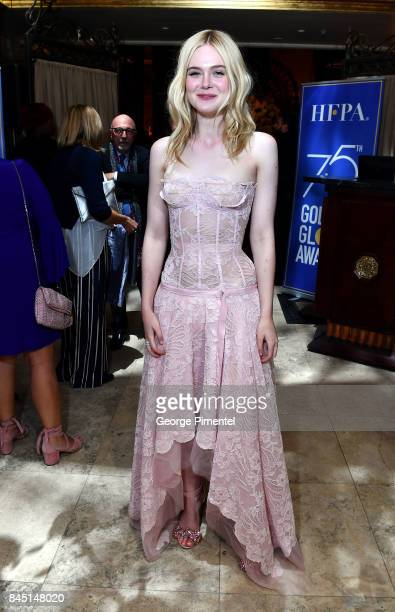 Elle Fanning attends The Hollywood Foreign Press Association and InStyle's annual celebrations of the 2017 Toronto International Film Festival at...