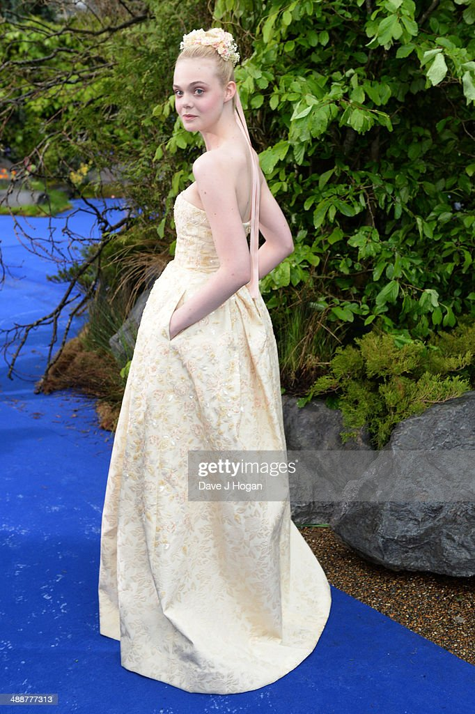 Elle Fanning attends the 'Maleficent' Costume And Props Private Reception at Kensington Palace on May 8, 2014 in London, England.