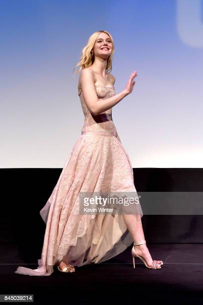 Elle Fanning attends the 'Mary Shelley' premiere during the 2017 Toronto International Film Festival at Roy Thomson Hall on September 9 2017 in...
