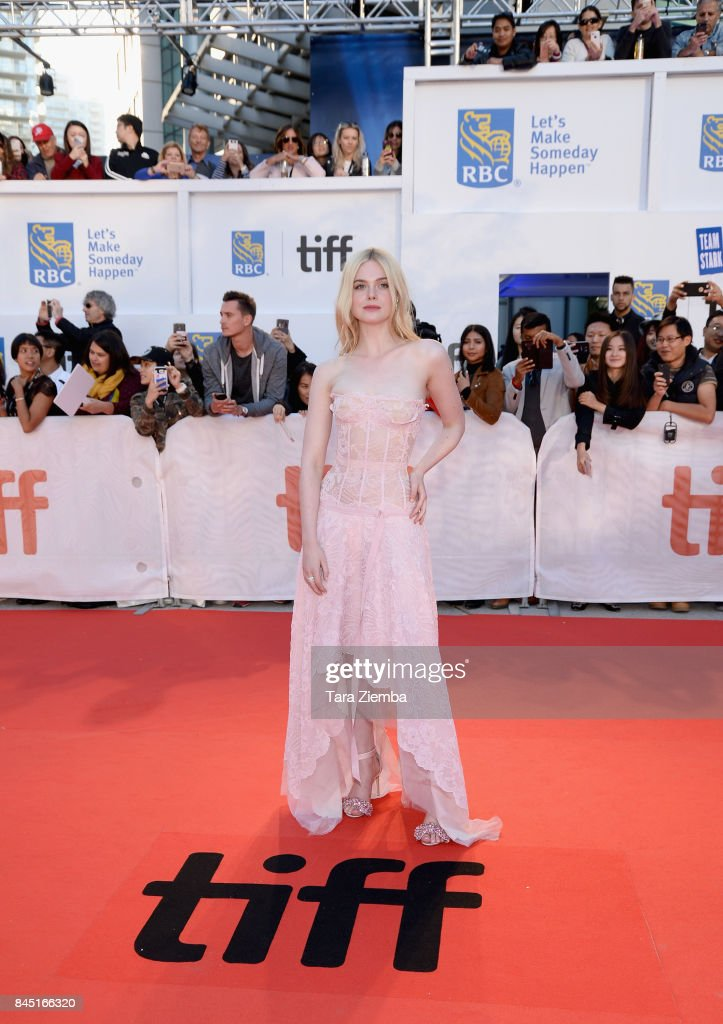 Elle Fanning attends the 'Mary Shelley' premiere during the 2017 Toronto International Film Festival at Roy Thomson Hall on September 9, 2017 in Toronto, Canada.