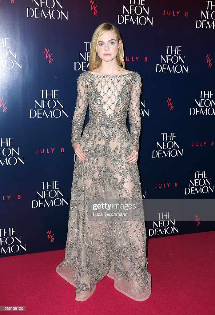 <a gi-track='captionPersonalityLinkClicked' href=/galleries/search?phrase=Elle+Fanning&family=editorial&specificpeople=2189940 ng-click='$event.stopPropagation()'>Elle Fanning</a> attends 'The Neon Demon' UK premiere at the Picturehouse Central on May 31, 2016 in London, England.