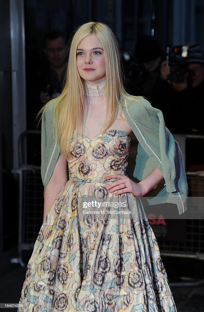<a gi-track='captionPersonalityLinkClicked' href=/galleries/search?phrase=Elle+Fanning&family=editorial&specificpeople=2189940 ng-click='$event.stopPropagation()'>Elle Fanning</a> attends the premiere of 'Ginger And Rosa' during the 56th BFI London Film Festival at Odeon West End on October 13, 2012 in London, England.