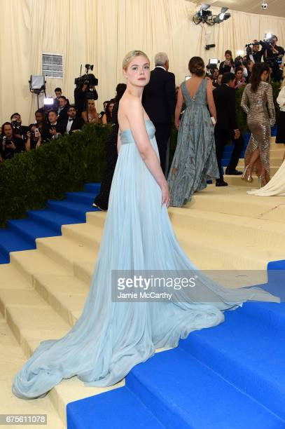 Elle Fanning attends the 'Rei Kawakubo/Comme des Garcons Art Of The InBetween' Costume Institute Gala at Metropolitan Museum of Art on May 1 2017 in...