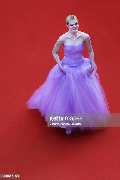 Elle Fanning attends the 'The Beguiled' screening during the 70th annual Cannes Film Festival at Palais des Festivals on May 24 2017 in Cannes France