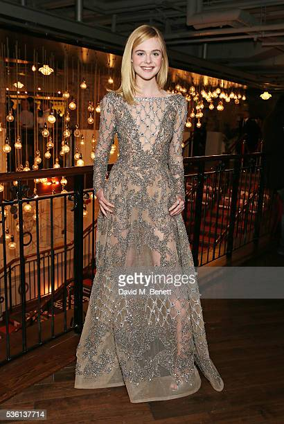 Elle Fanning attends the UK Premiere of 'The Neon Demon' at Picturehouse Central on May 31 2016 in London England