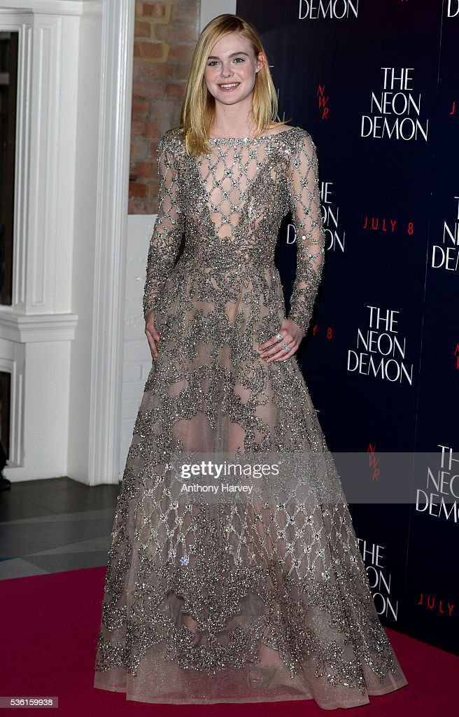 <a gi-track='captionPersonalityLinkClicked' href=/galleries/search?phrase=Elle+Fanning&family=editorial&specificpeople=2189940 ng-click='$event.stopPropagation()'>Elle Fanning</a> attends the UK Premiere of The Neon Demon on May 31, 2016 in London, United Kingdom.