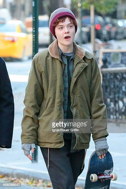 Elle Fanning is seen filming 'Three Generations' on November 19 2014 in New York City