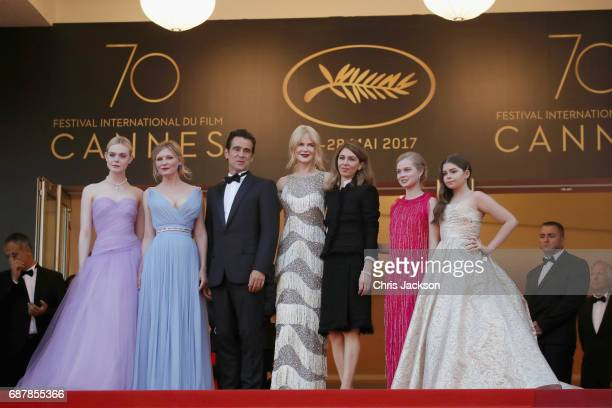 Elle Fanning Kirsten Dunst Colin Farrell Nicole Kidman director Sofia Coppola Angousie Rice and Addison Riecke attend the 'The Beguiled' screening...