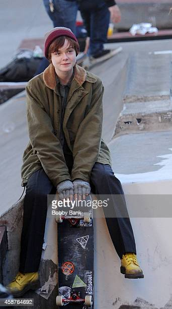 Elle Fanning on the set of 'Three Generations' on November 10 2014 in New York City