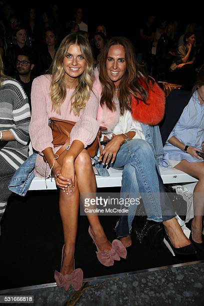 Elle Ferguson and Tash Sefton arrive ahead of the Misha Collection show at MercedesBenz Fashion Week Resort 17 Collections at Carriageworks on May 16...